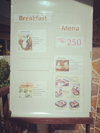 The menu which is neither here or there. I wanted to swop my eggs for bacon or sausage and they had to go and ask the owner? …..and the answer was no