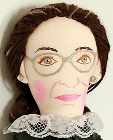 Justice Ruth Bader Ginsburg has to be the very best portrait doll I ever created in my 50 years of doll artistry.