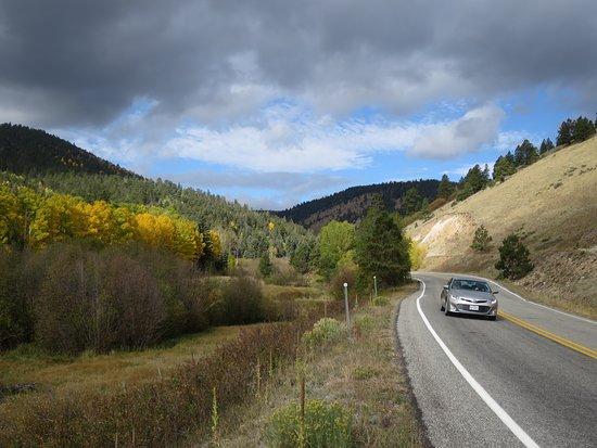 Enchanted Circle Drive: A two lane road.