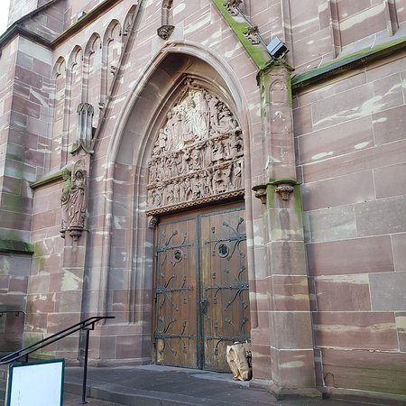 Front door. Note the carvings.