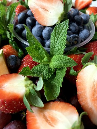 Holliston, MA: fruit platter! delicious