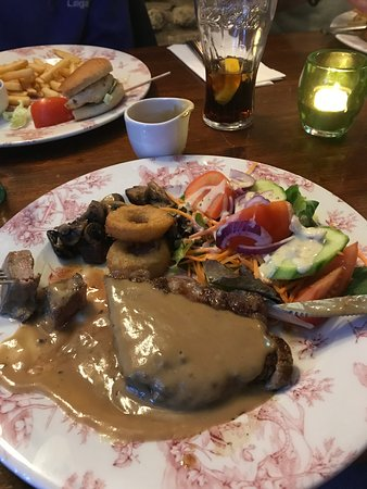 Birdlip, UK: A perfectly cooked steak