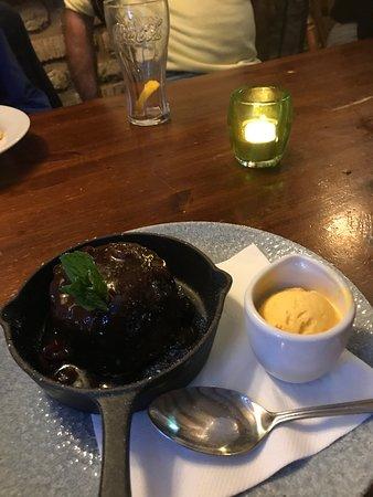 Birdlip, UK: Sticky Toffee Pudding - delicious!