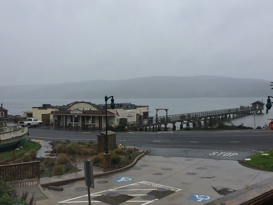Marshall, Kalifornien: View from Jerry's patio on a foggy morning!