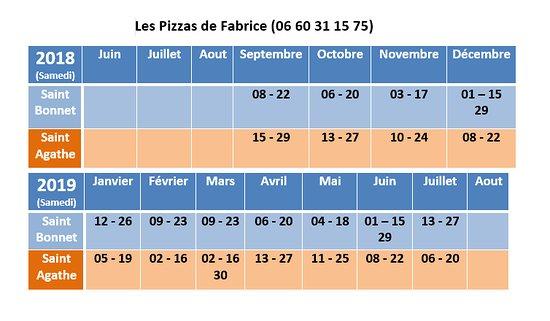 Chalmazel, França: calendrier pour emplacement saint agathe