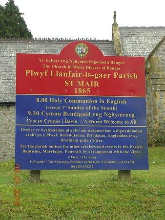 St. Mair's Church Sign (Y Felinheli)