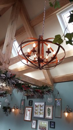 Danbury, UK: The new Garden Room decorated for Christmas