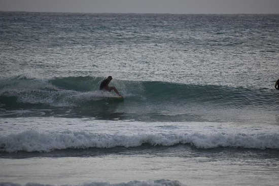 Atlantic Shores, Barbados: Surfing Freight's Bay Barbados, between surfing lessons at Ride The Tide Surf School and sending out surfboard rentals