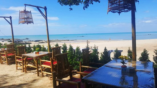 Beautiful Restaurant on Pak Weep Beach in Khao Lak Area. Beach Coast Restaurant