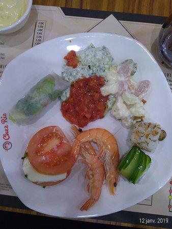 Entree Variee Picture Of Restaurant Chez Riz Chasse Sur Rhone