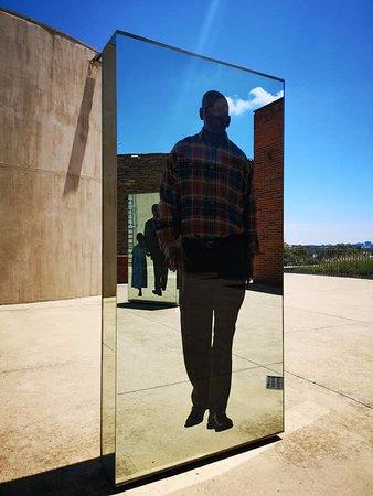 Apartheid Museum: Mirrored exhibit.