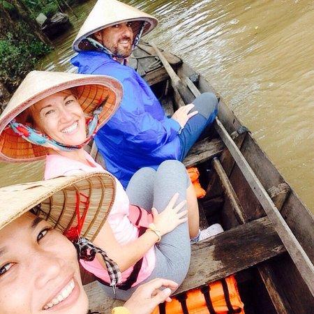 Long Xuyen, Vietnam: boat through small canals