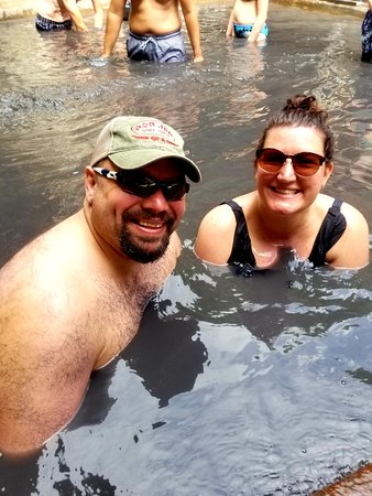 Amazing mud bath from natural Volcano