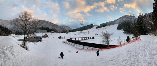 Nanto, Japan: Evening view from Takanbo Skiing Resort