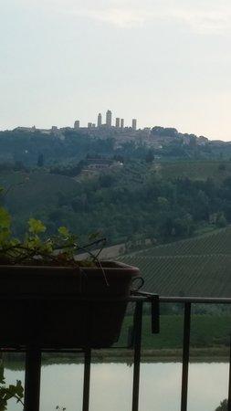 Fattoria Poggio Alloro: look at that view! You can see San Gimignano.