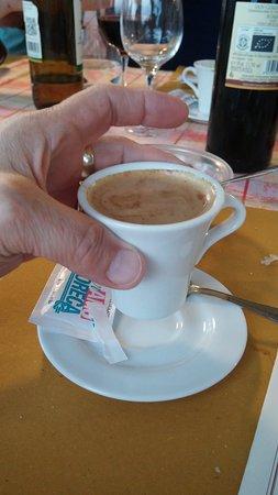 Fattoria Poggio Alloro: here's my little after-dinner coffee