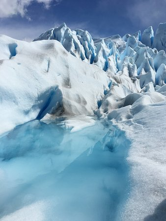 Walking on the Perito Moreno glacier is a must do! It is an amazing experience. The views are absolutely stunning.