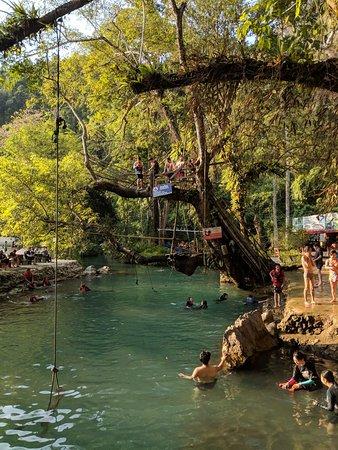 Tham Phu Kham Cave and Blue Lagoon Photo