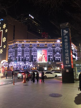 The hotel is located nect to Shinsegae Department Store. The decoration is quite attractive especially at nights.