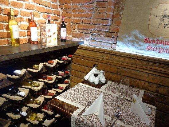 Restaurant Sergiana: ワインが豊富です