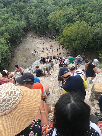 Cobá, Tulum, cueva de Hilarios y Playa Paraíso desde Playa del Carmen: Coba from the top