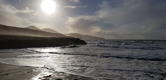 Moody lights of a Mid-Winter Noonday sun. St Finian's Bay, Co. Kerry.