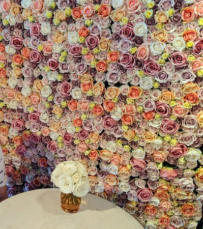 Inside wall of flowers