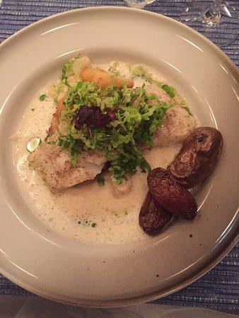 En god prøve på vintermenyen med 3retters. Herlige retter med torsk, kanskje manglet desserten litt syrlighet.