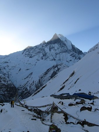 Annapurna Region, Nepal: Mt. Annapurna (8091m) of Nepal is the 10th highest mountain in the world and the journey to its base camp, which is at 4130m/13549ft height, is one of the most popular walks on earth.