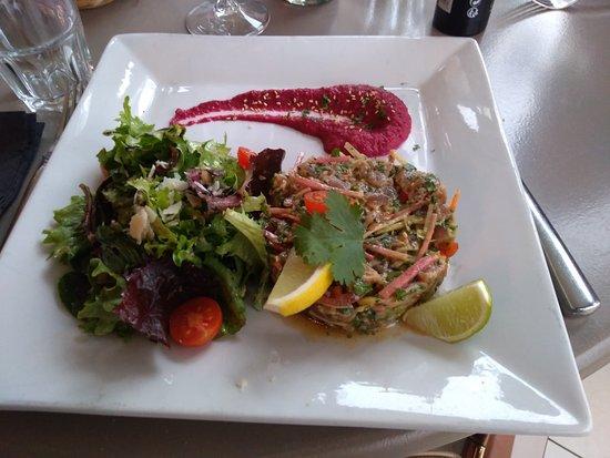 La Terrasse du Chateau de Duras: Tartare de thon