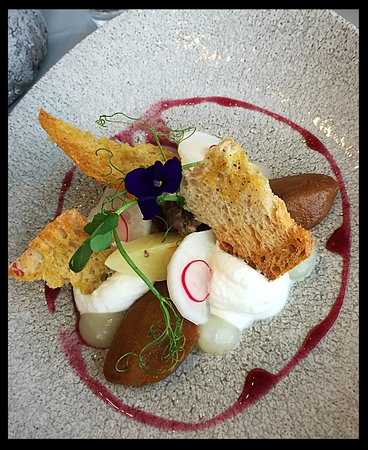 Goats curd walnut and pear small plate salad