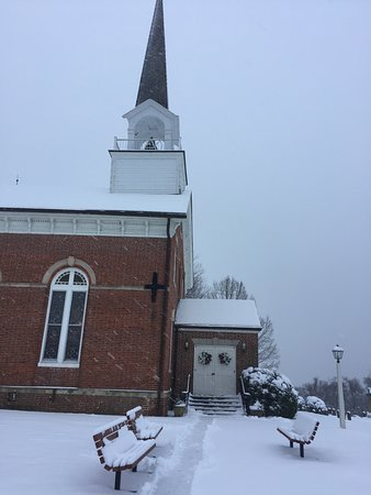 St. Ignatius, Port Tobacco, on a snowy day.