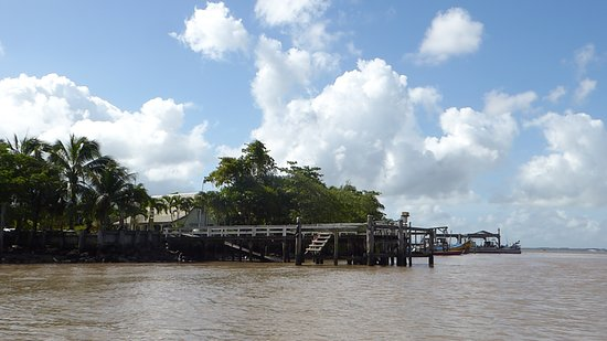 a pier on the opposite side of Paramaribo