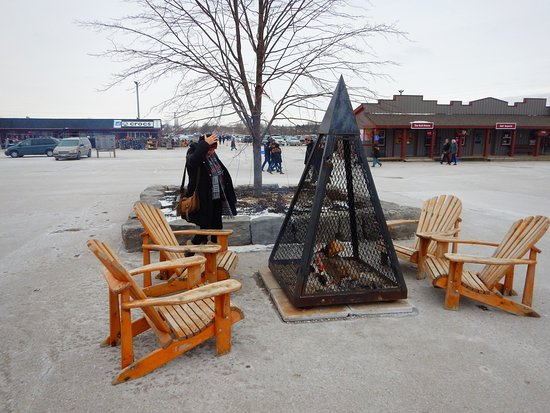 Outdoor fire pit relaxation spots all around the site
