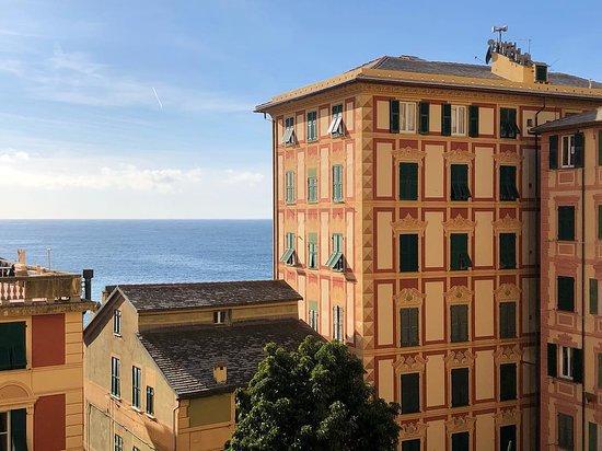 Camogli, Italy: Quei posti davanti al mare: verticali, chiusi, senza parcheggi, cari..., ma che bellezza e quanta poesia. Quei posti davanti al mare sono per me impagabili ❤️