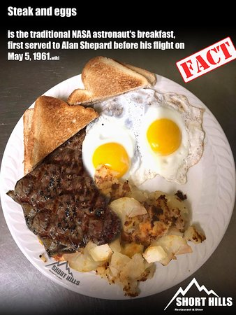 Salt Point, Nova York: Shorthills restaurant & Diner  Steak and eggs  traditional NASA astronaut's breakfast Shorthills