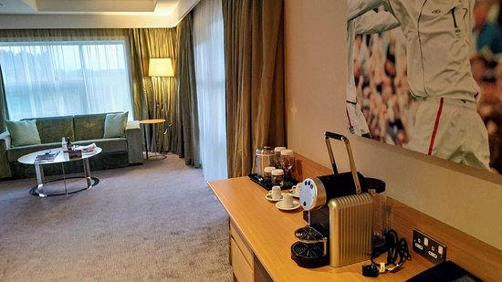 Hilton at St George's Park, Burton upon Trent: One bedroom suite with balcony - Room number 155