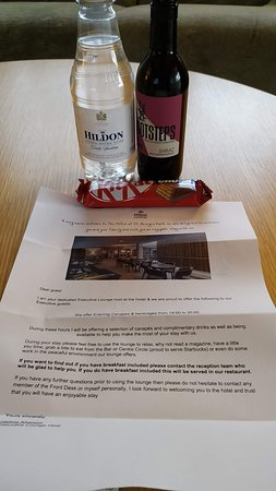 Hilton at St George's Park, Burton upon Trent: One bedroom suite with balcony - Room number 155. Lovely welcome for being Hilton honours members