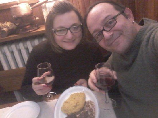 Usseaux, Italie : Un brindisi alla polenta