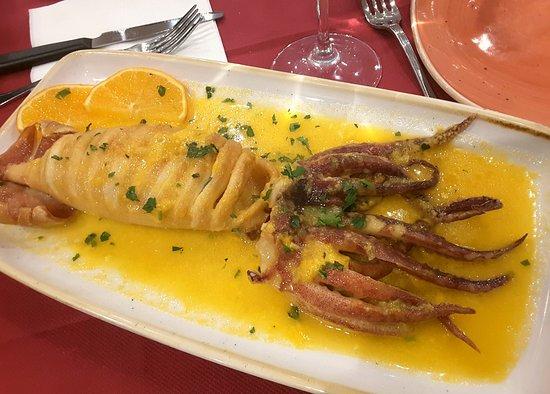 Trattoria I Compari: Calamaro agli Agrumi...