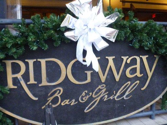 Ridgway street sign