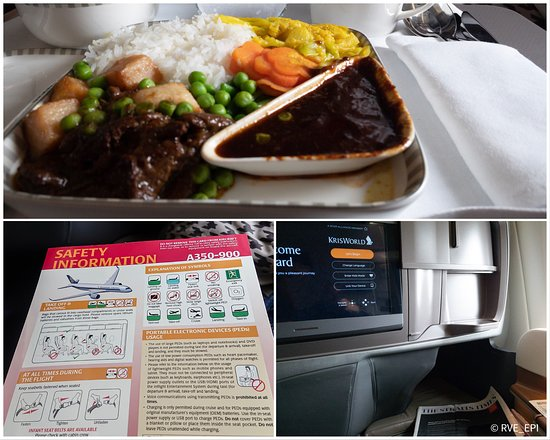 Singapore Airlines: 食事・A350の機体説明・様子