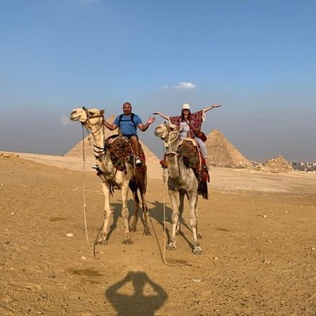 Camel ride in Panorama Pyramids of Giza