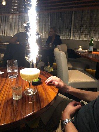 Catch by Simonis: Pornstar Martini met verjaardags fontijntje