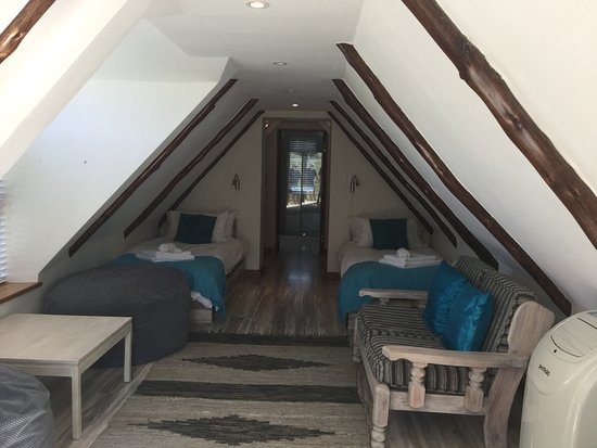 Loft with 4 single beds en-suite. Perfect for the kids
