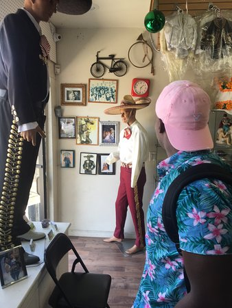 The Taco Tour, we made a quick stop at a Mariachi tailor shop!