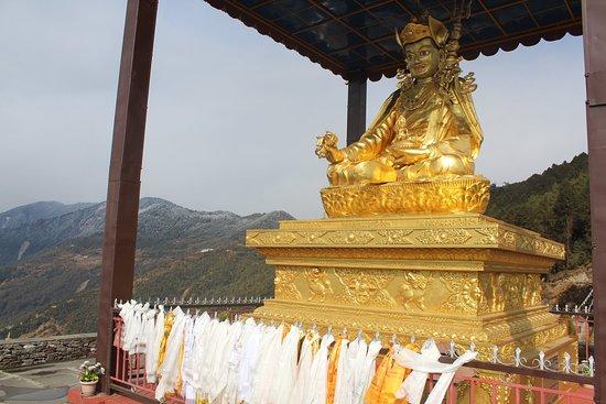 Helambu, Nepal: Statue of second Budhha (Guru Padmasambhava ) which is just near to our hotel