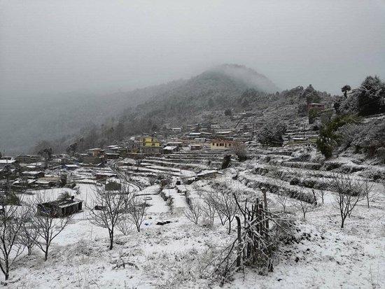 Winter view of Helambu Sermathang