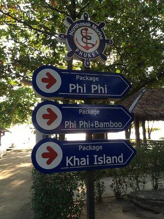 Khai Island: 現地ツアーの待合場所:わかりやすく表示されています