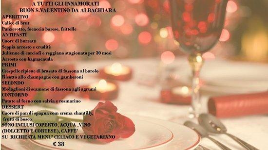 Carpeneto, Itália: Vi aspettiamo per festeggiare s.valentino 2019 insieme